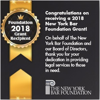 The New York Bar Foundation recently presented a grant to Nassau Suffolk Law Services to support our
