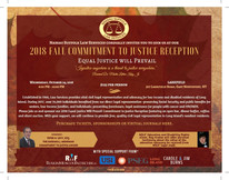 Our Annual Commitment to Justice Reception is almost here: October 24, 2018. Save the date!