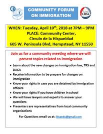 Community Forum on Immigration in Hempstead