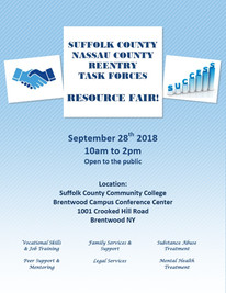 The Suffolk County Reentry Task Force will be presenting it's second Community Resource Fair on Sept