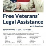 Hofstra Offers Free Legal Assistance to Veterans