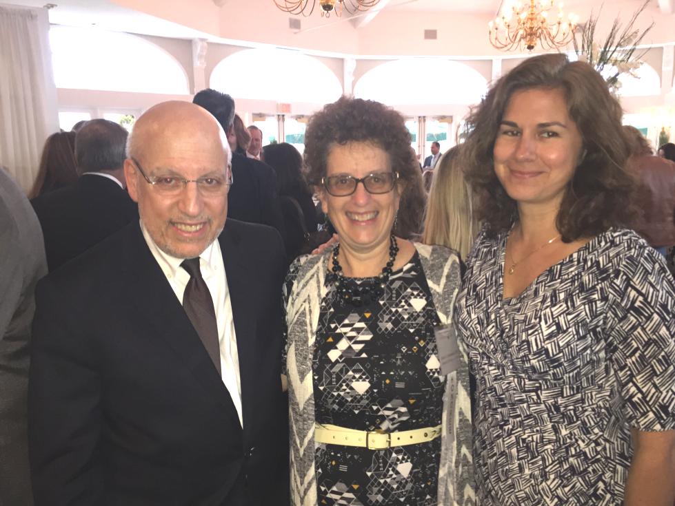 Jeff Seigel, NSLS Executive Director, Robin Abramowitz (center) and Board member, Christina Rosas (far right)