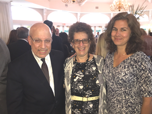Jeff Seigel, NSLS Executive Director, Robin Abramowitz (center) and Board member, Christina Rosas (far right)