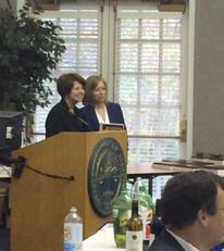 Ellen Krakow presented with Award of Recognition. Congratulations, Ellen!