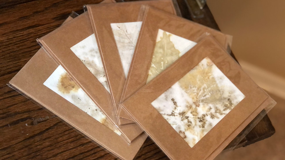 Note Cards Eco Printed Paper ~ by Judy Sall Originals