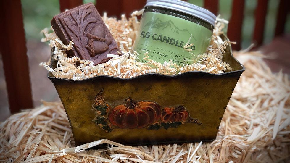 Pumpkin Candle Gift Basket