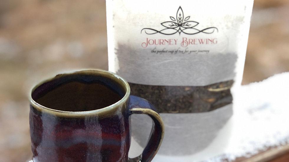Mug & Tea Set~Berry/Gold
