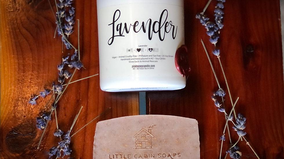 Candle & Soap Set ~Lavender