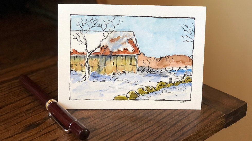 Note Cards Hand Painted ~ by West End Pottery