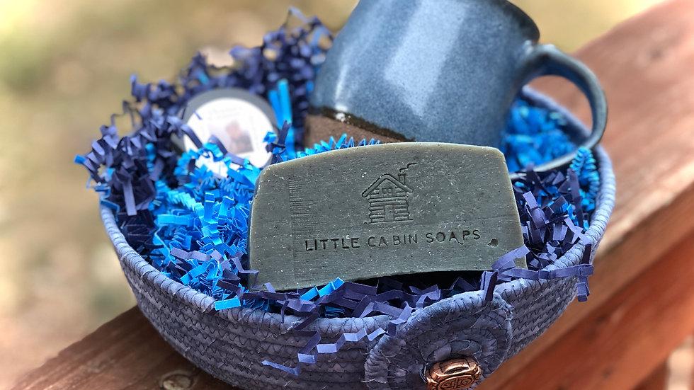 Beautiful Blue Gift Basket