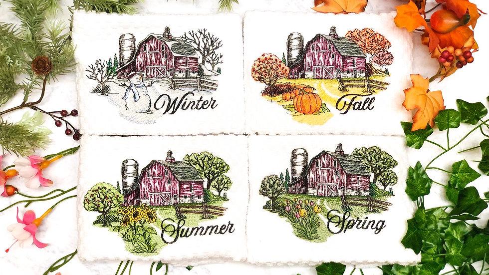 Four Seasons Hand Towel Set ~ by Newton's Apple-que