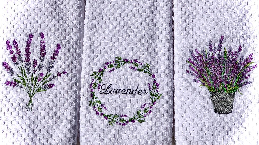 Lavender Hand Towel Set ~ by Newton's Apple-que