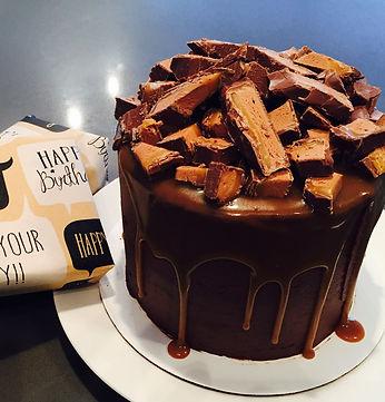 Chocolate Mars bar Birthday cake