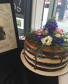Chocolate Salted caramel Naked wedding cake