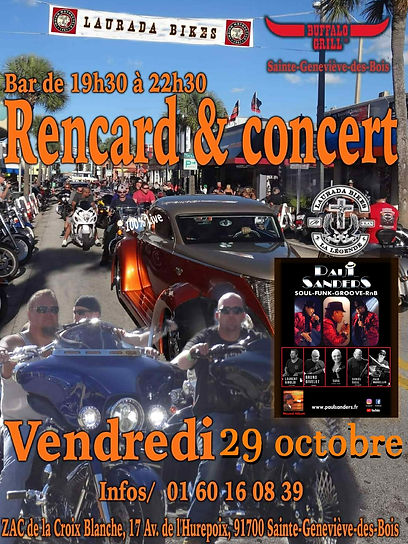 Affiche RENCART & CONCERTS St Genevieve