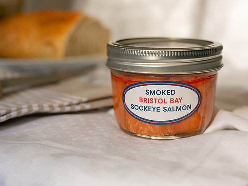 Bristol Bay Smoked Sockeye Salmon Jar