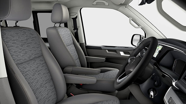 The Interior of a VW California Ocean 6.1 with Grey Seats