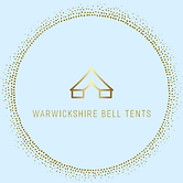 Warwickshire Bell Tents Logo Gold and Blue