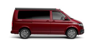 A red VW California Ocean 6.1