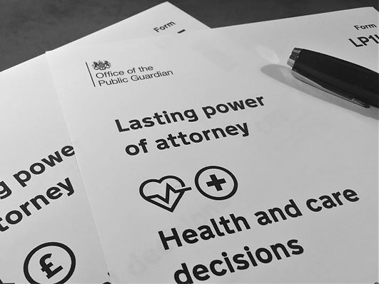 A document saying 'lasting powers of attorney' from HMRC