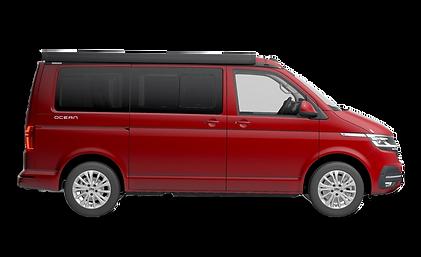 Red 2020 VW California Ocean 6.1 Campervan