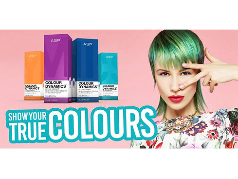 Colour Dynamics Hair Colours with a Woman With Green Hair
