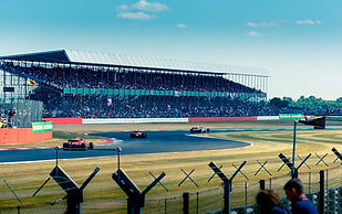 A Motorsport Track with Formula 1 Race On Tarmac