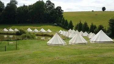 Hadsham Farm Wedding Field with Bell Tents
