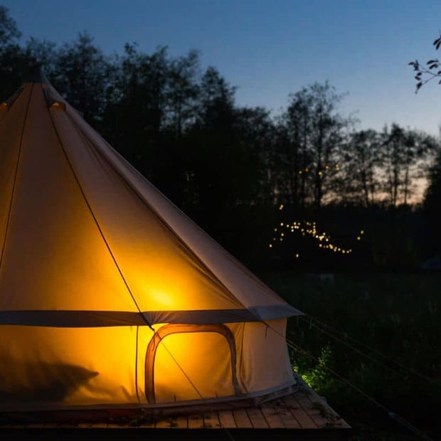 Bell Tent Lit Up At Night.jpg