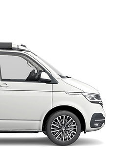 Front of a White VW California Ocean 6.1