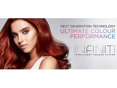 Affinage Infiniti Intelligent Colouring System Products with Woman with Red Hair