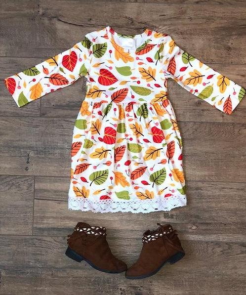 Fall Leaf Lace Dress