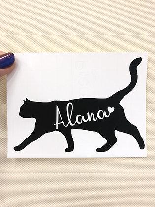 Custom Cat Name Sticker