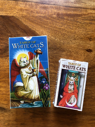 White Cats Mini Tarot Card