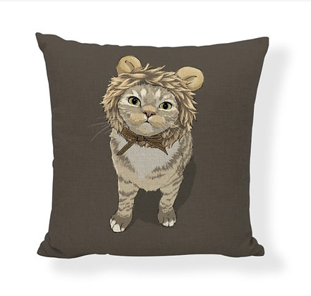 Lion Cat Cushion Cover