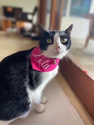 Reversible cat bandana with custom Name