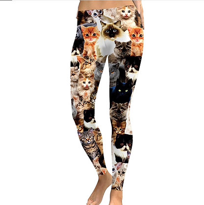 Cat Yoga Leggings