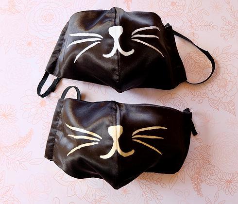 Saten Black Cat Mask