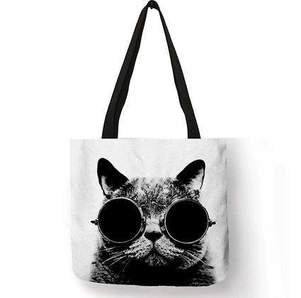 Sun Glasses Cat Tote Bag