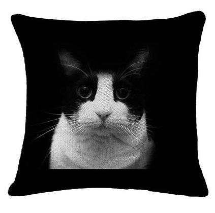 Black & White Cat Cushion Cover