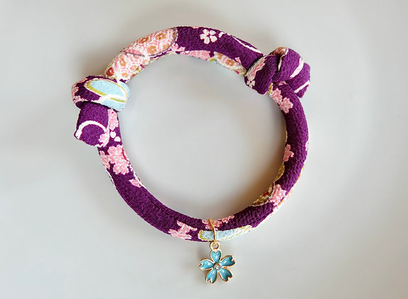 Hand Made Japanese Style Collar with Charm for Cat (8mm)