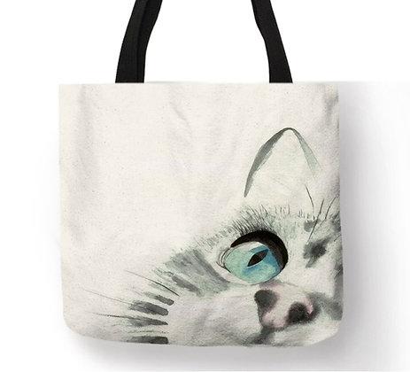 Big Face Cat Tote Bag