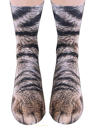 Cat Paw Socks - Tabby Cat