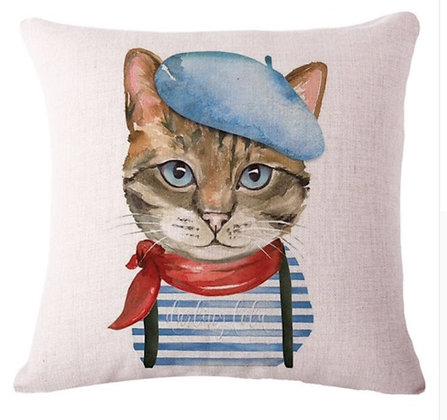 Artist Cat Cushion Cover