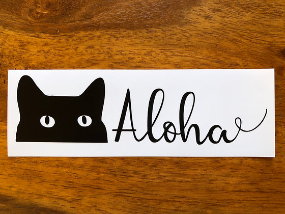 Aloha Cat Sticker
