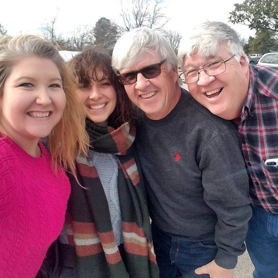 My awesome moving crew -- Brenna, Uncle Pete and Dad!