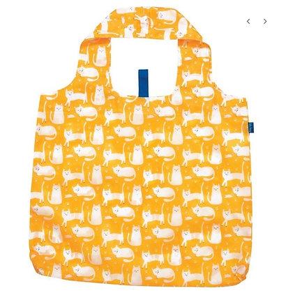 Yellow Kitten Reusable Shopping Bag