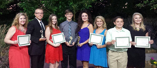 The UAFS Academy's cast and directors of Mary Poppins accepting their National Youth Arts Awards 2015