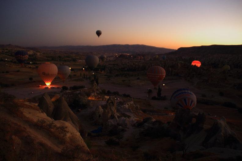 Hot Air Balloon, Cappadocia, Take off, Göreme