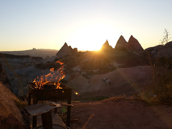 Hot Air Balloon, Cappadocia, Red Valley, fairy chimneys, hike, sunset, göreme